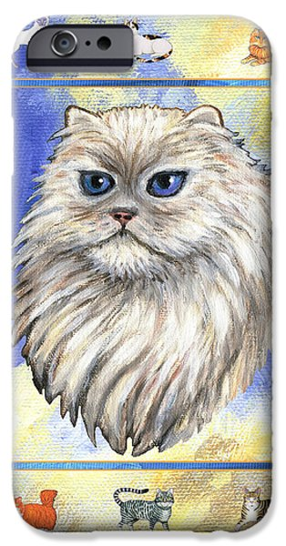 Cats Purrfection Four - Persian iPhone Case by Linda Mears