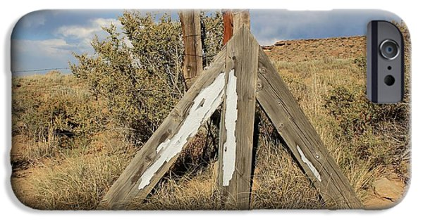 Sw New Mexico iPhone Cases - Cattle Guard Near Chaco iPhone Case by Elizabeth Sullivan