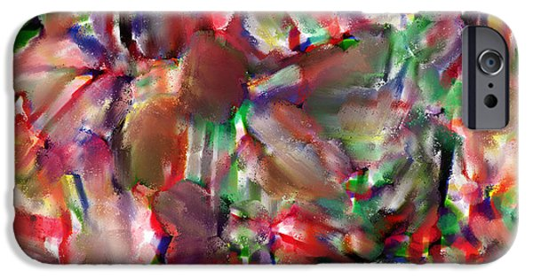 Celebrities Art Pastels iPhone Cases - Caught In The Crowd Water Color And Pastel iPhone Case by Sir Josef  Putsche