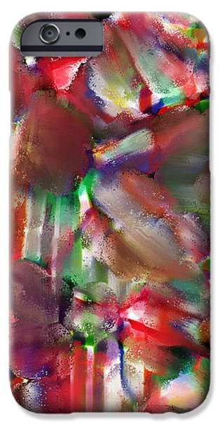 caught in the crowd water color and pastel iPhone Case by Sir Josef  Putsche