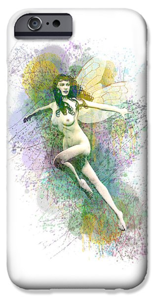 Tinker Bell iPhone Cases - Caught in the spider web iPhone Case by Joaquin Abella
