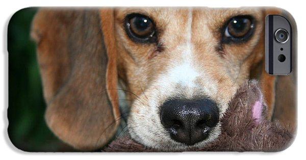Dog Close-up Digital Art iPhone Cases - Caught iPhone Case by Jinzha Bloodrose