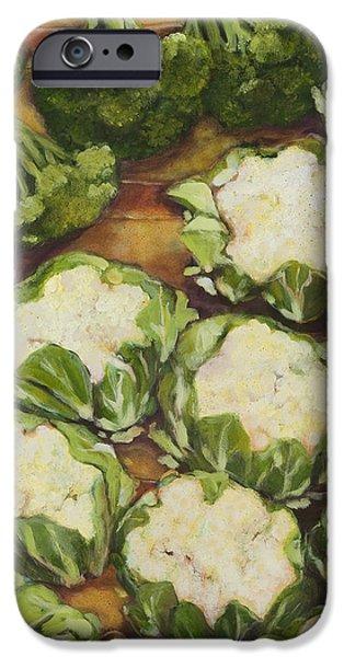 Cauliflower March iPhone Case by Jen Norton