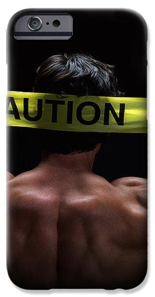 Caution iPhone Case by Jane Rix