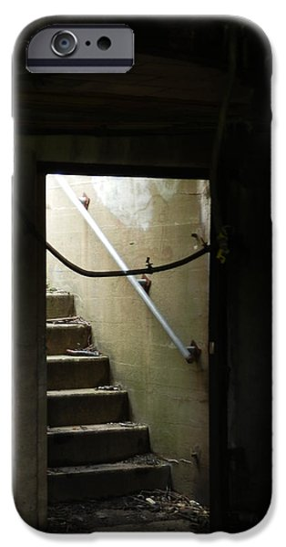 Eerie iPhone Cases - Cautionary Stairs iPhone Case by Marcia Lee Jones