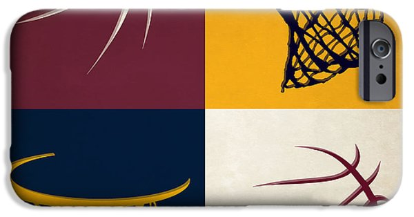 Cavalier iPhone Cases - Cavaliers Ball And Hoop iPhone Case by Joe Hamilton