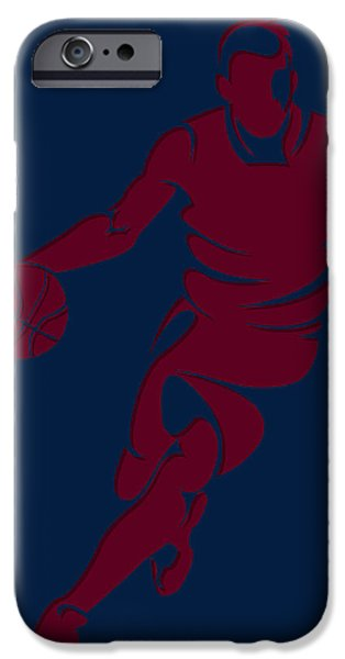 Cavalier iPhone Cases - Cavaliers Basketball Player2 iPhone Case by Joe Hamilton