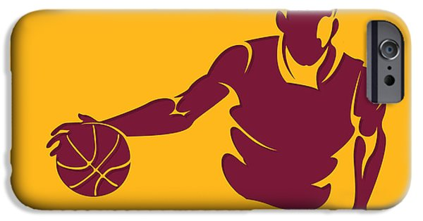 Cavalier iPhone Cases - Cavaliers Shadow Player1 iPhone Case by Joe Hamilton