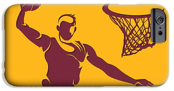 Cavalier iPhone Cases - Cavaliers Shadow Player2 iPhone Case by Joe Hamilton