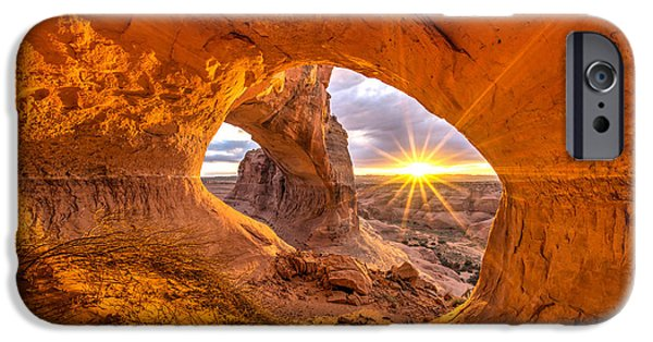Sunflare iPhone Cases - Cave Arch iPhone Case by Dustin  LeFevre