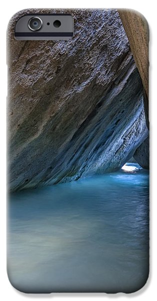 Seashore iPhone Cases - Cave at The Baths iPhone Case by Adam Romanowicz
