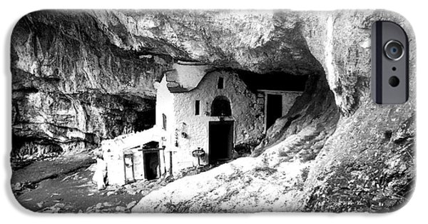 Cathedral Rock iPhone Cases - cave church on Mt Olympus Greece iPhone Case by Nina Ficur Feenan