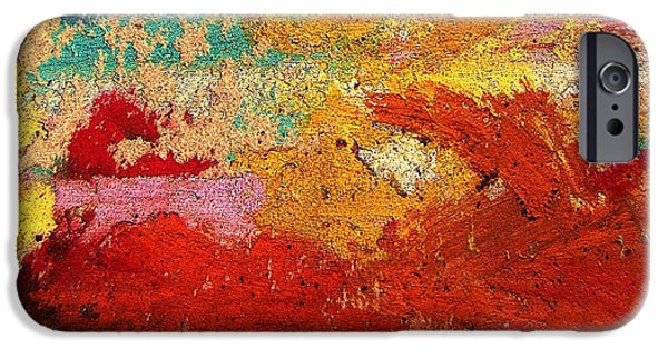 Pollock Pastels iPhone Cases - Cave iPhone Case by John Clark