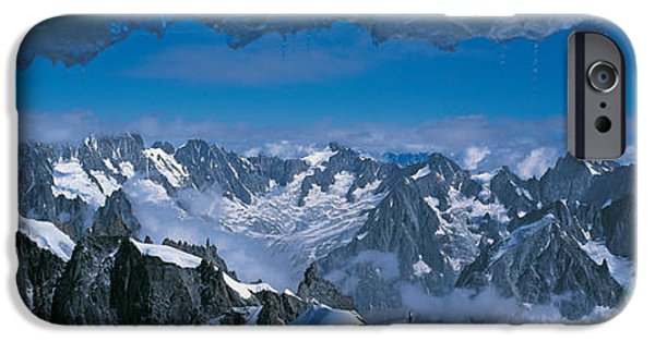 Mountain iPhone Cases - Cave Mt Blanc France iPhone Case by Panoramic Images