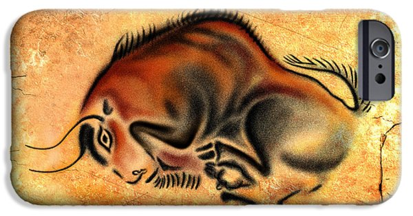 Airbrush Drawings iPhone Cases - Cave Painting iPhone Case by Alessandro Della Pietra