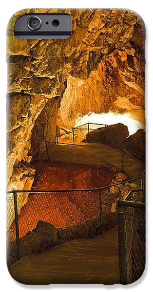 Cavern Aglow iPhone Case by KENAN SIPILOVIC