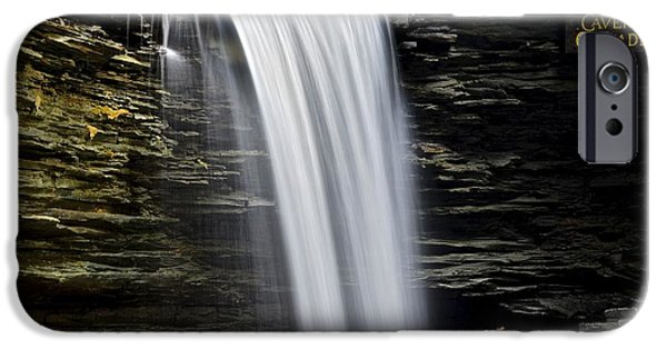 Cavern iPhone Cases - Cavern Cascade iPhone Case by Frozen in Time Fine Art Photography