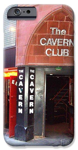 Beatles iPhone Cases - Cavern Club Entrance Mathew Street Liverpool UK iPhone Case by Steve Kearns