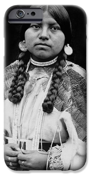 Cayuse woman circa 1910 iPhone Case by Aged Pixel