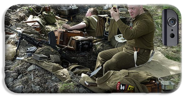Historical Re-enactments iPhone Cases - Ceasefire iPhone Case by Ladi  Kirn