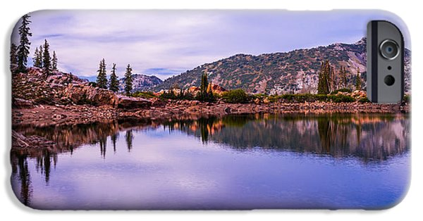 Pines iPhone Cases - Cecret Reflection iPhone Case by Chad Dutson