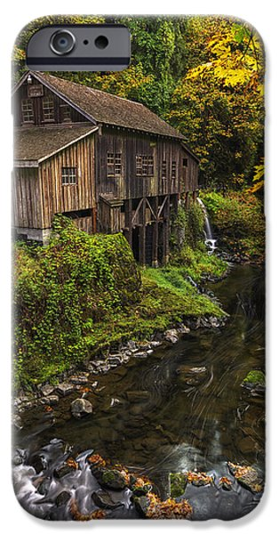 October iPhone Cases - Cedar Creek Grist Mill 2 iPhone Case by Mark Kiver