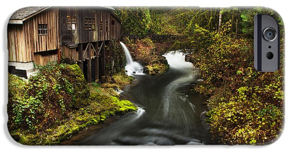 Grist Mill iPhone Cases - Cedar Creek Grist Mill iPhone Case by Andrea Gingerich