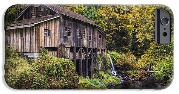 October iPhone Cases - Cedar Creek Grist Mill iPhone Case by Mark Kiver