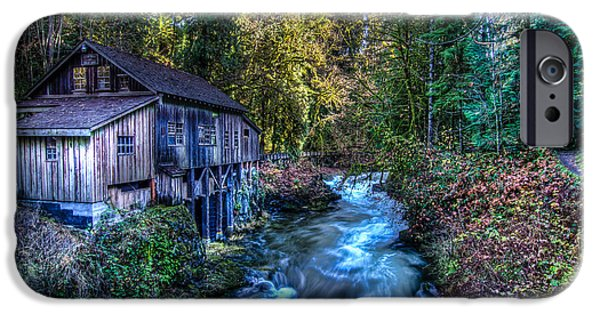 Grist Mill iPhone Cases - Cedar Creek Grist Mill iPhone Case by Puget  Exposure