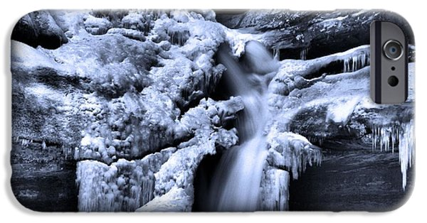 Water In Caves iPhone Cases - Cedar Falls In Winter iPhone Case by Dan Sproul