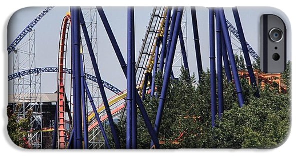 Adrenaline iPhone Cases - Cedar Point Roller Coasters iPhone Case by Dan Sproul