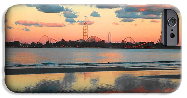 Roller Coaster iPhone Cases - Cedar Point iPhone Case by Sarah Kasper