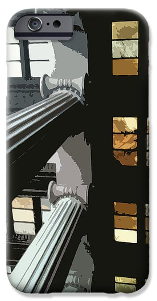 Greek Sculpture Paintings iPhone Cases - Skylights iPhone Case by Julio R Lopez Jr