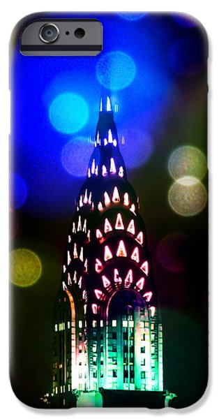 Ny Ny Digital Art iPhone Cases - Celebrate The Night iPhone Case by Az Jackson