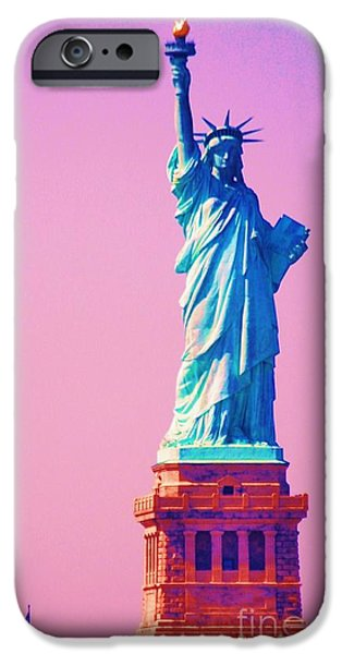 4th July iPhone Cases - Celebrating Liberty 3 iPhone Case by Marcus Dagan