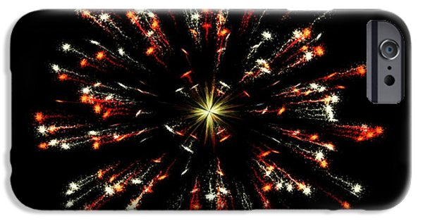 Firework Digital Art iPhone Cases - Celebration 10 iPhone Case by Movie Poster Prints