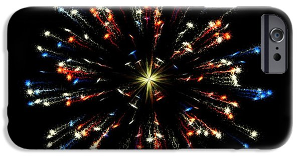 Fireworks iPhone Cases - Celebration 11 iPhone Case by Movie Poster Prints
