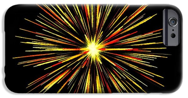 Fireworks iPhone Cases - Celebration 4 iPhone Case by Movie Poster Prints