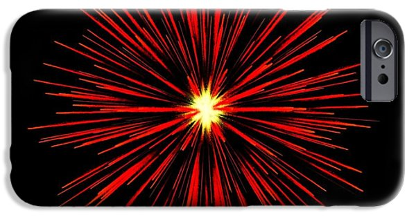 Firework Digital Art iPhone Cases - Celebration 5 iPhone Case by Movie Poster Prints