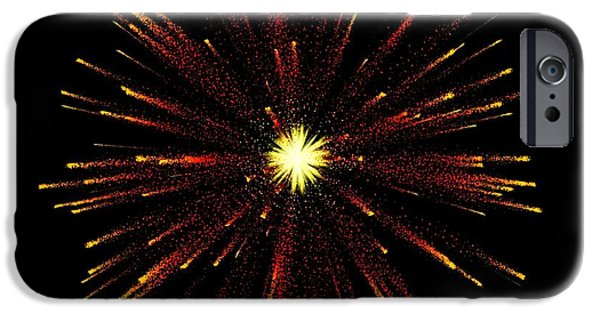 Fireworks iPhone Cases - Celebration 8 iPhone Case by Movie Poster Prints