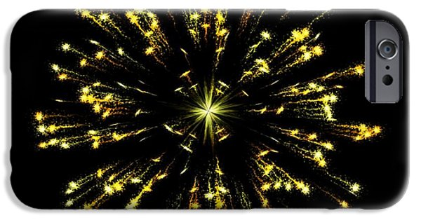 Firework Digital Art iPhone Cases - Celebration 9 iPhone Case by Movie Poster Prints