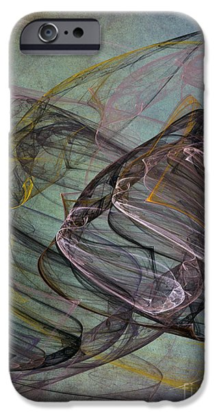 Abstract Digital Art iPhone Cases - Celebration iPhone Case by Edward Fielding