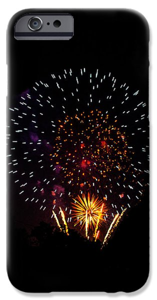 Fourth Of July iPhone Cases - Celebration Fireworks iPhone Case by Shelby  Young