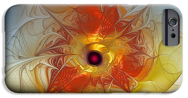 Lyrical iPhone Cases - Celebration for a rising Star-Abstract Fractal Art iPhone Case by Karin Kuhlmann