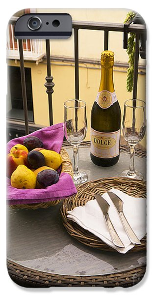 Prosecco iPhone Cases - Celebration on an Italian Balcony iPhone Case by Brenda Kean