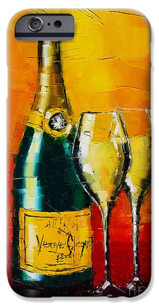 Celebration Paintings iPhone Cases - Celebration Time iPhone Case by Mona Edulesco