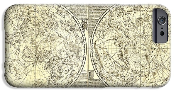 Antiques iPhone Cases - Celeste Planisphere iPhone Case by Gary Grayson