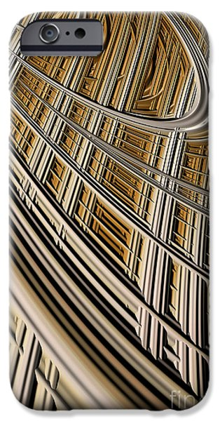 Geometric Effect iPhone Cases - Celestial Harp iPhone Case by John Edwards