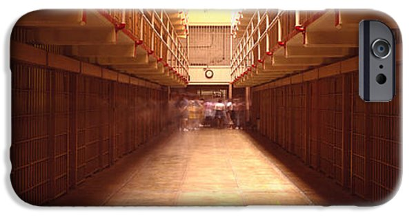 Punishment iPhone Cases - Cell Block In A Prison, Alcatraz iPhone Case by Panoramic Images