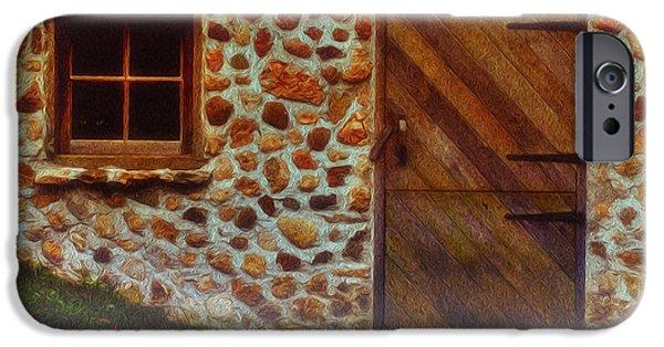 Fieldstone iPhone Cases - Cellar Door In The Mist iPhone Case by Jack Zulli
